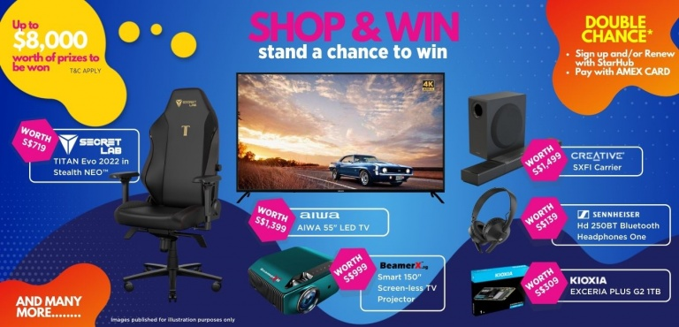 Shop and win lucky draw prizes worth up to $8,000